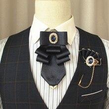 Ручной предназначен галстук-бабочка британский высокая-класс мужские женские деловой банкет свадебные украшения Кристалл Боути корейский версия