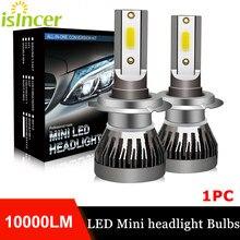 1Pc iSincer 80W H7 Led H4 Car Headlight Bulbs H1 H8 H9 H11 9005 HB3 9006 HB4 Automobiles Lamps 12V Fog Lights 6000K White