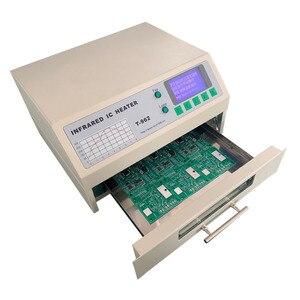 Image 2 - T 962 110 v/220 v 800 ワットデスクトップリフロー炉赤外線 ic ヒーターはんだ機 800 ワット 180 × 235 ミリメートル T962 bga smd smt リワーク