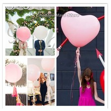 1PC 36 inch multi-color round. Love shape big latex balloon giant wedding birthday party decoration