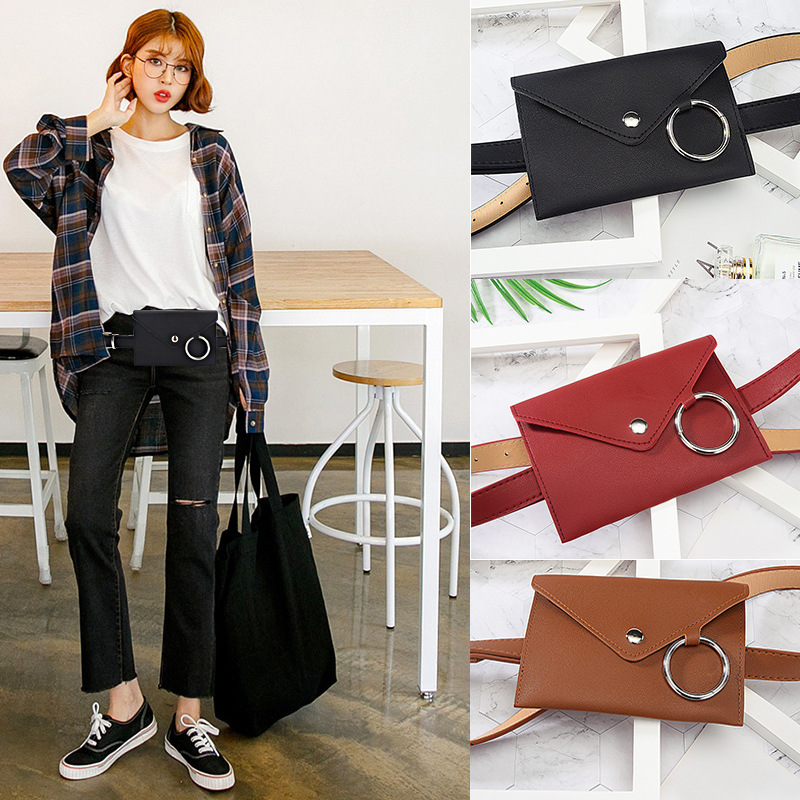 HATCYGGO Women Belt Bag Leather Waist Bag Female Fashion Waist Pack Shoulder Bags Bum Bag Girl Phone Pouch Women Belts