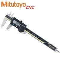 Mitutoyo paquímetro digital  cnc paquímetro 300mm vernier pinça 150mm lcd 500-196-20 200mm paquímetro medição eletrônica de aço inoxidável