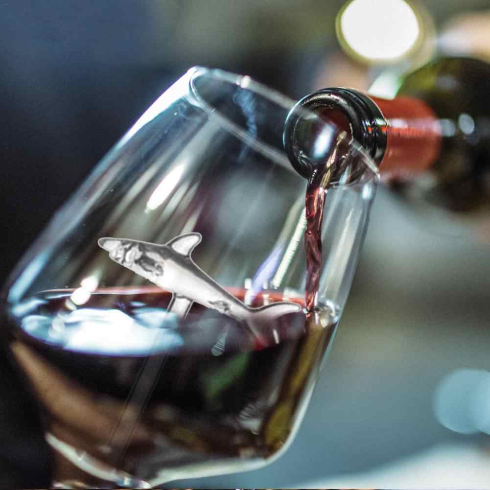 Innovitative Rượu Thủy Tinh Pha Lê Kính Cá Mập Phong Cách Đỏ Rượu Vang Thủy Tinh Cocktail Cốc Cốc Cho Trang Trí Quà Tặng Giáng Sinh 300 Ml