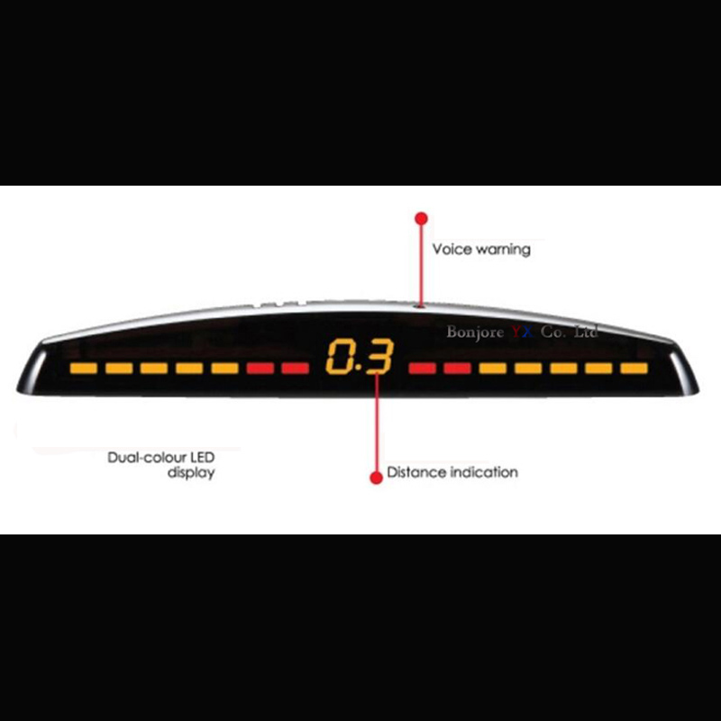 Image 5 - Koorinwoo LED display Car Parking Sensors 4 Radars Automobile Jalousie Parkmaster Car detector Parktronic Alarm Black white Grey-in Parking Sensors from Automobiles & Motorcycles