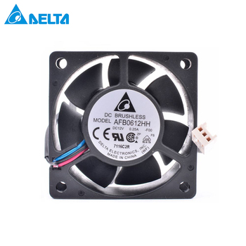For DELTA AFB0612HH 6cm 60mm fan 6025 12V 0.20A Double ball bearing 2-wire power cooling fan new for avc 6cm 6025 double ball 4 wire fan ds06025b12l 12v 0 30a server cooling fan