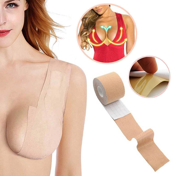 1 Roll 3 Colors Women Self Adhesive Breast Lift Tape Strapless Bandage Backless Sexy Bra Silicone Push Up Lingerie Invisible Bra