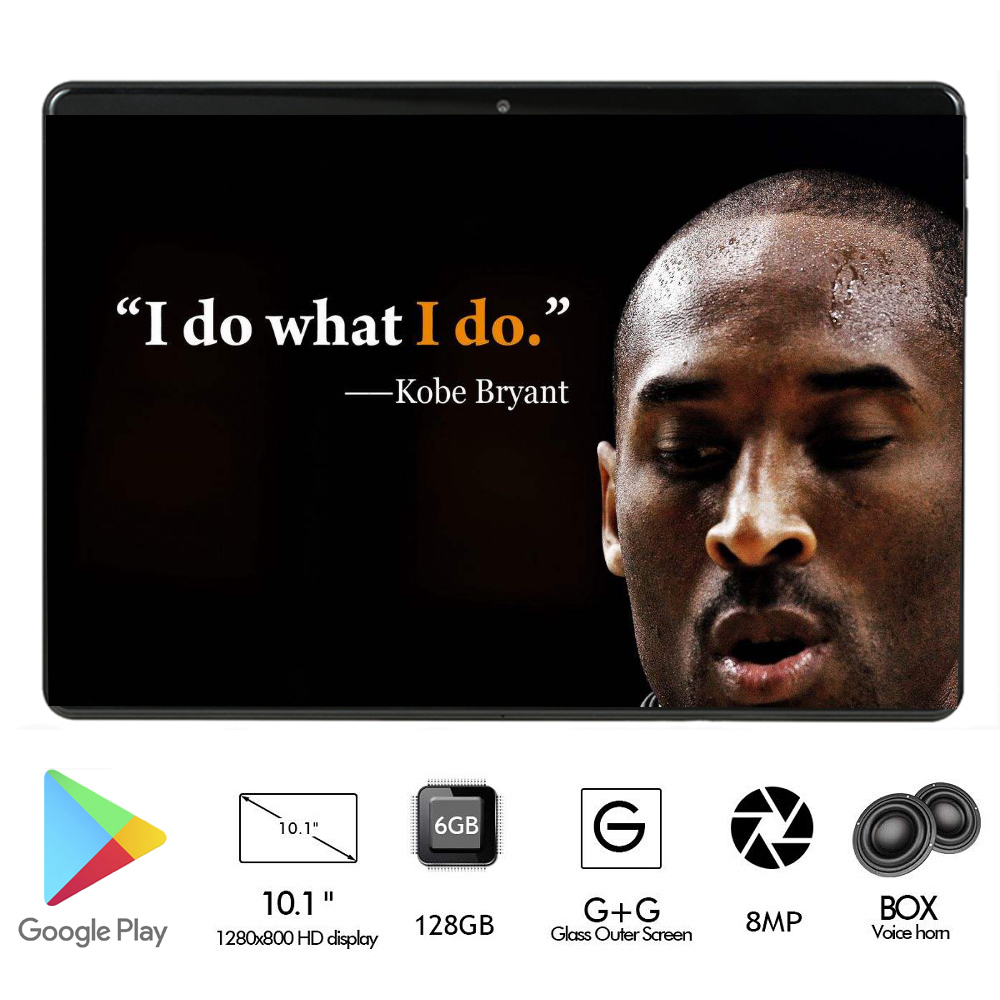 New Global Version 2.5D Tempered Glass 10 Inch Tablet 4G LTE Deca Core 6GB RAM 128GB ROM HD IPS WiFi Bluetooth Tab 10.1+ Gifts