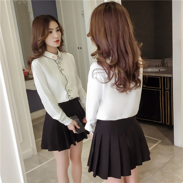 Long Sleeve Embroidery Blouse 5