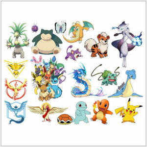 Pokemon Go Characters Wall Stickers Cute Pikachu Mural PVC Decal Kids Room Decor
