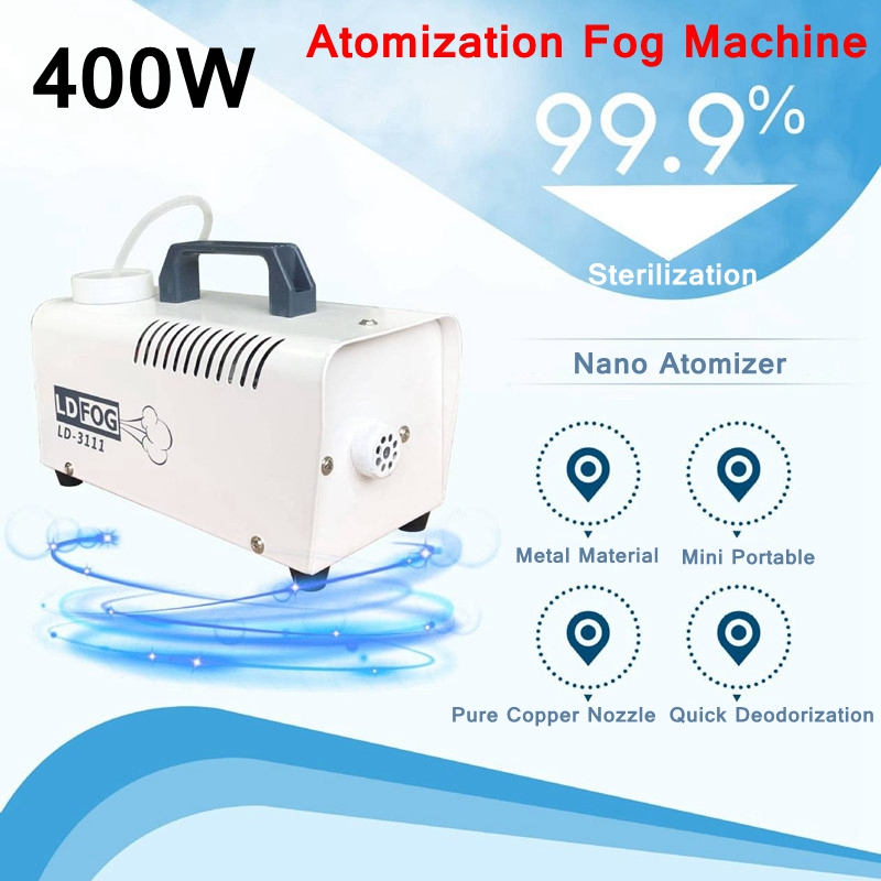 Portable 400W Atomization Disinfection Fogger Machine Insecticide Mites Killer Air Purification Household Car Sprayer Machine