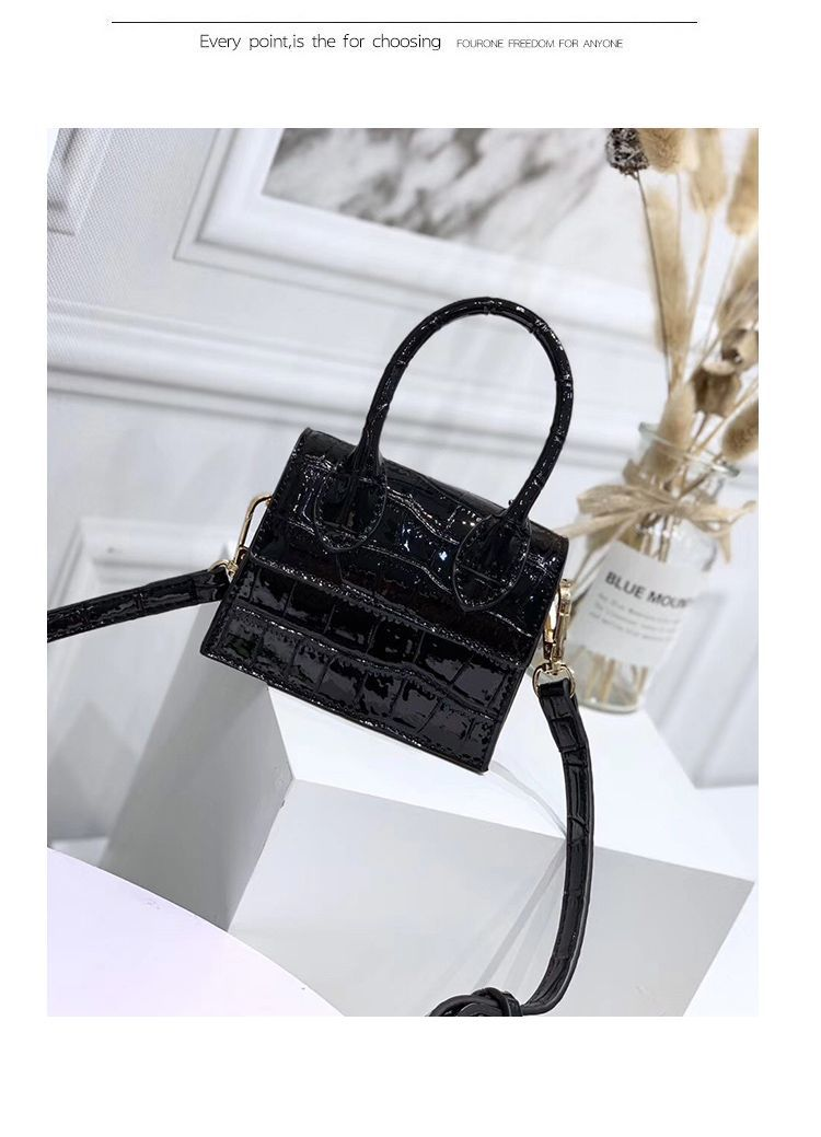 H073b1839453940168c96a440326d762dY - Mini Small Square bag Fashion New Quality PU Leather Women's Handbag Crocodile pattern Chain Shoulder Messenger Bags