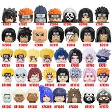 Narutoes Mini Building Blocks Figures Hatake Kakashi Uzumaki Uchicha Jiraiya Model For