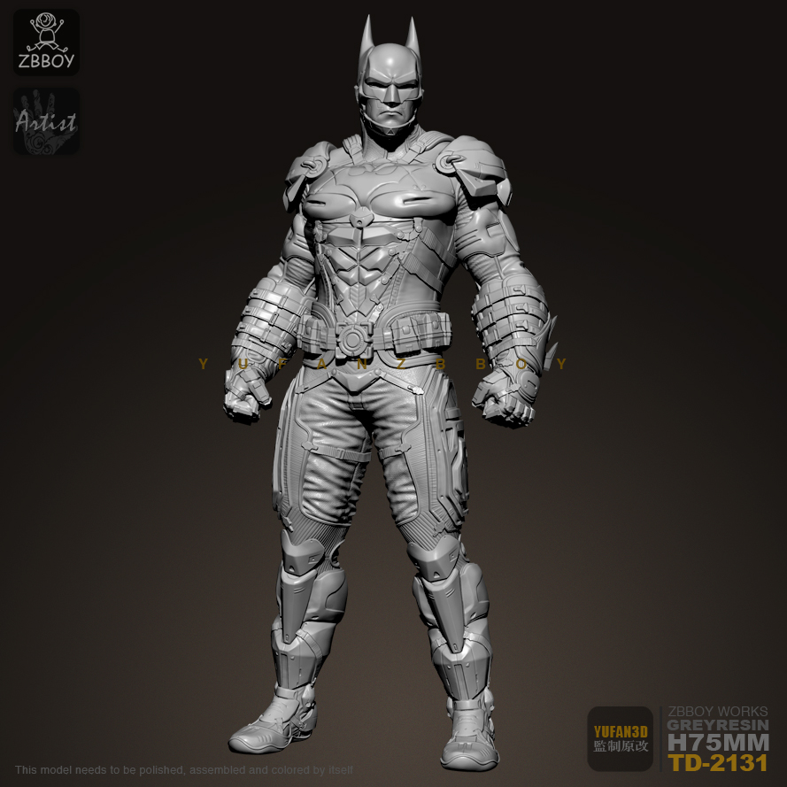 75mm 1/24 Resin Kits Batman Model  Self-assembled TD-2131