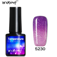 Mode Thermische Kleur Veranderende Gel Polish Set Alle Manicure Semi Permanente Top Coat Uv Led Gel Vernis Nail Art Gel nagellak(China)