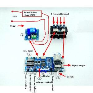 Image 2 - Lusya מרחוק Preamp נפח בקרת לוח 4 דרך אודיו קלט אות בורר מיתוג לוח T1188