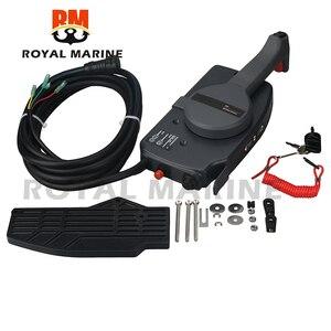 703-48205 подвесной мотор пульт дистанционного управления коробка в сборе для лодочного мотора Yamaha, 10 контактов нажмите, чтобы открыть 703-48205-B1-00 ...
