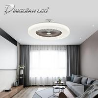 DINGDIAN LED C009 80W AC220V Mordern Ceiling Fan Light Three Speed Fan Indoor Lighting Fan With Remote Control Dimmable Lamp