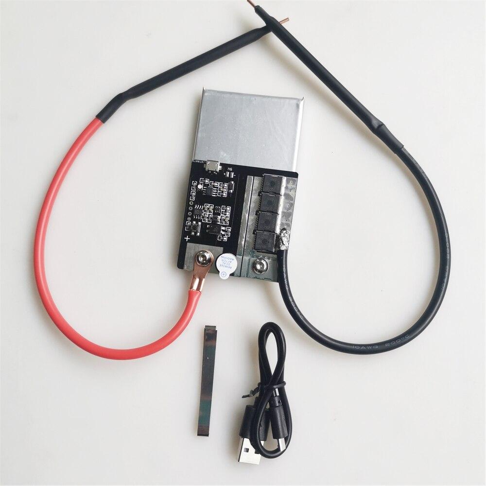 Aletler'ten Elektrikli Alet Aksesuarları'de Mini nokta kaynak makinesi 18650 piller için nikel şerit bağlantı pil nokta kaynakçı yüksek güç diy kaynak kalem title=