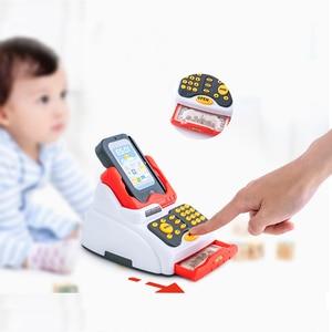 Image 1 - ילדים לילדים קופת של צעצוע סימולציה סופרמרקט קניות ילדה ילד לסחוב כרטיס מכונה מכירות קופה