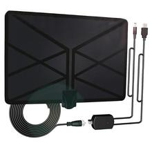 960 mil antena telewizyjna wewnętrzna wzmocniona cyfrowa antena HDTV 4K HD DVB T Freeview TV dla lokalnych kanałów transmisja telewizja domowa