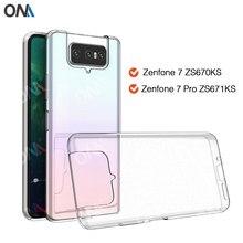 Fall Für Asus Zenfone 7 ZS670KS TPU Silicon Klar Ausgestattet Bumper Soft Case für Asus Zenfone 7 Pro ZS671KS Transparent zurück Abdeckung