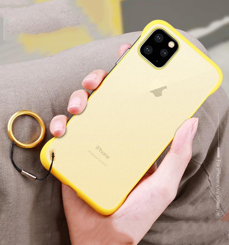 Frameless Slim Matte Hard Back Cases for iPhone 11/11 Pro/11 Pro Max 3