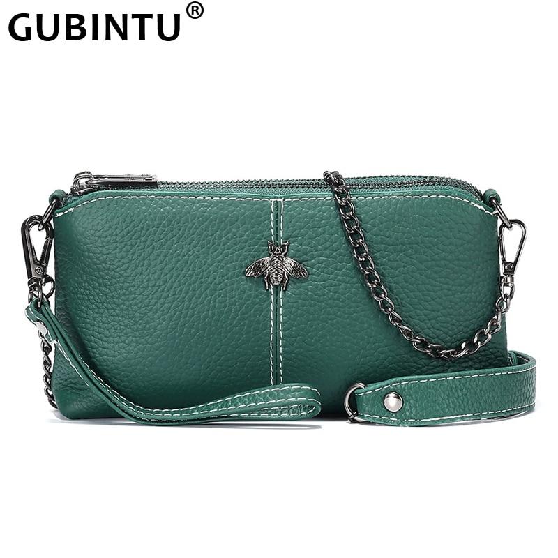2020 New Shoulder Bag Genuine Leather Women's Luxury Handbags Fashion Crossbody Bags Lady Messenger Bag Female Double Zip Purse
