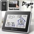 Digoo DG-TH8380 цветной экран Метеостанция Крытый Открытый датчик термометр гигрометр метр Датчик прогноза 3CH