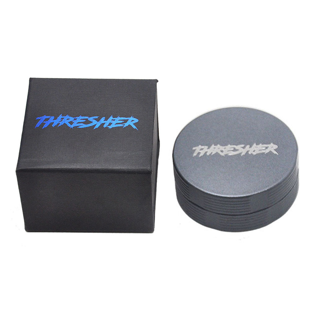 FHRESHER Aircraft Aluminum 56MM Smoking Herb Grinder 2 Piece With Sharp Diamond Teeth Tobacco Metal Smoking Grinders Accessories 6