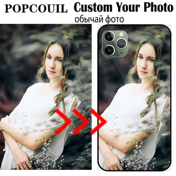 Custom Personalized Glass Phone Case For IPhone 13 12 6SP 7 8 Plus X 11 Pro XS MAX XR Cover Customized Design Picture Name Photo 1