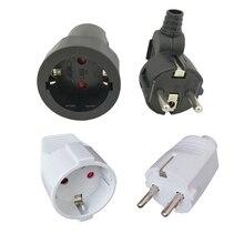 Tomada adaptadora de energia universal, plugue adaptador de tomada elétrica macho fêmea para viagem casa 16a 250v eu alemanha
