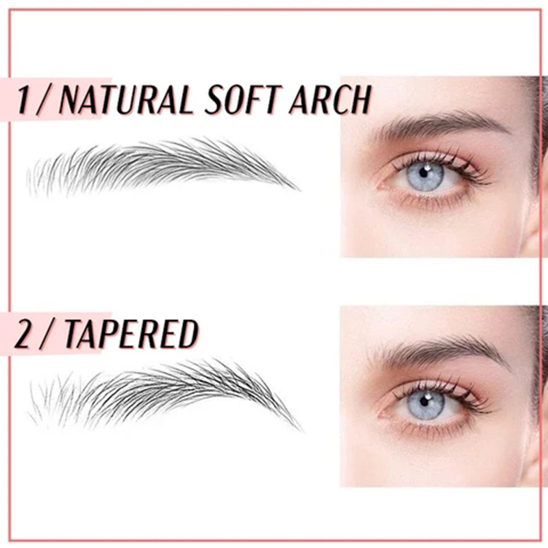 6D Eyebrow Sticker Bionic Tattoo Semi-Permanent Water Transfer Waterproof Embroidery Eyebrow Tattoo Sticker Makeup Supplies 4