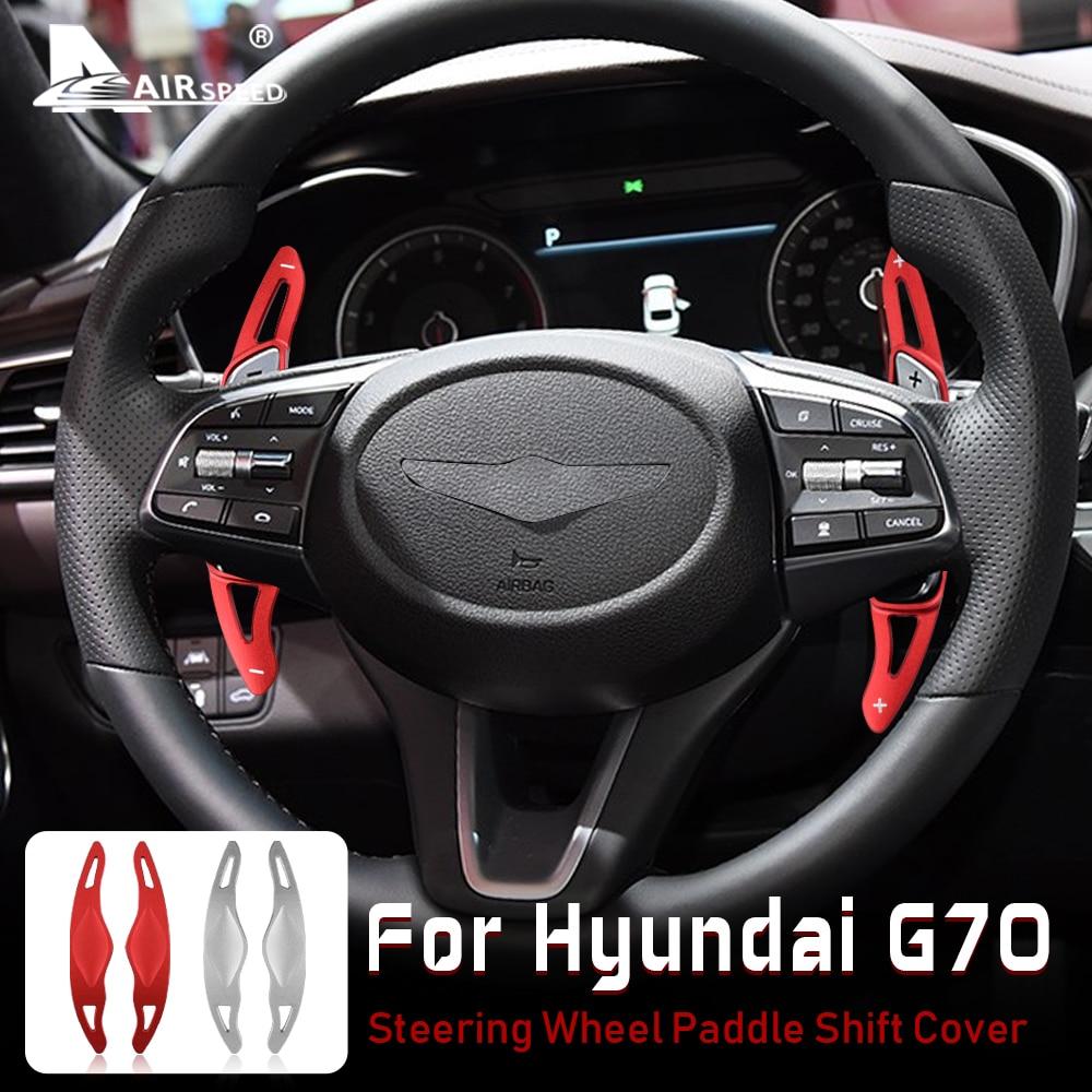 Аксессуары для Hyundai Genesis G70, алюминиевая отделка, переключатель передач на рулевое колесо для Hyundai G70