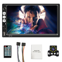 Bluetooth 7inch 2DIN HD Car Stereo Radio MP5 Digital Touch Screen Player Phone Link + Camera