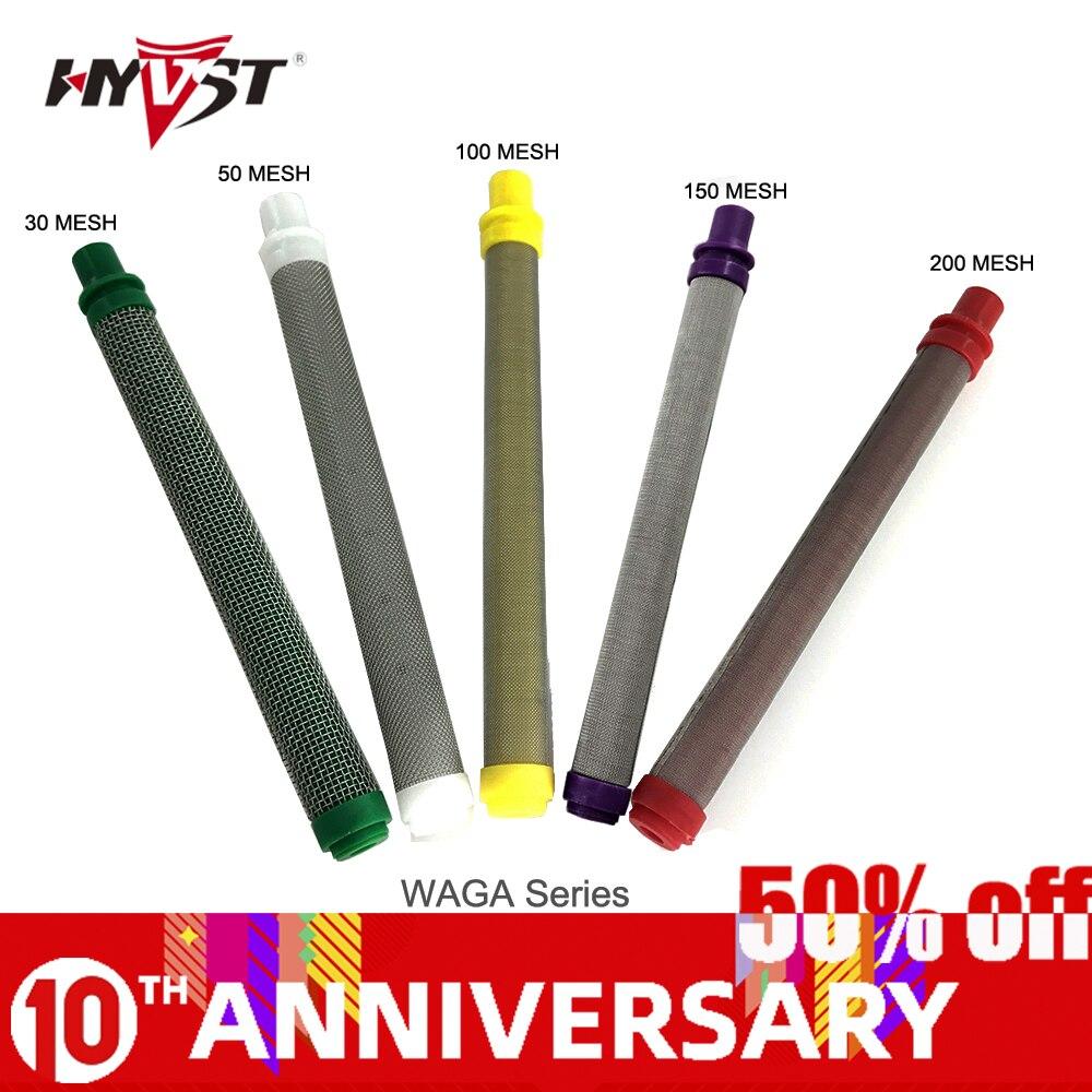 HYVST  Airless Filter (10pcs) Airless Gun Filter 30/50/100/150/200 Mesh Airless Paint Sprayer Parts Factory Sale Guns Filter