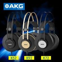 AKG/akg K52/K72/K92 Head-Mounted Professional Monitor HIFI Headset Sound Engineer Headphone Support Android IOS Windows Mac