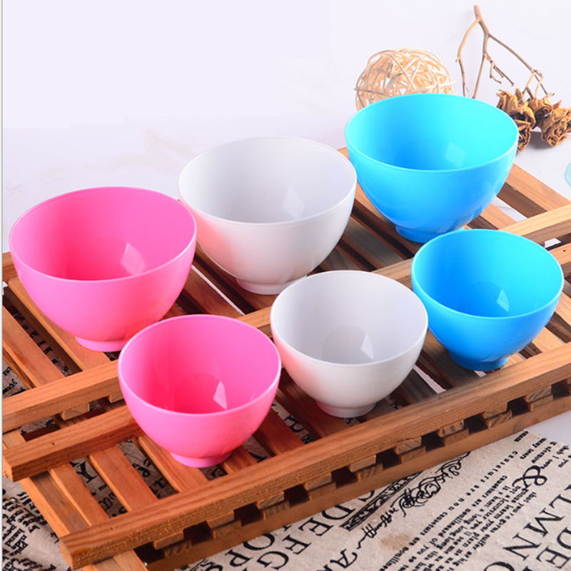 Plastic Bowl Home Use Odorless Anti-drop Facial Mask Mixing Bowl Prep Measuring Bowls For Salt Sauce Sugar Butter Dressing