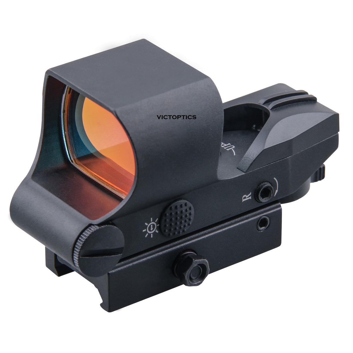 Victoptics 1x28x40 Reticle Lock System Tactical Red Dot Scope Reflex Sight 21mm QD Picatinny Mount 6 Red & Green Dot