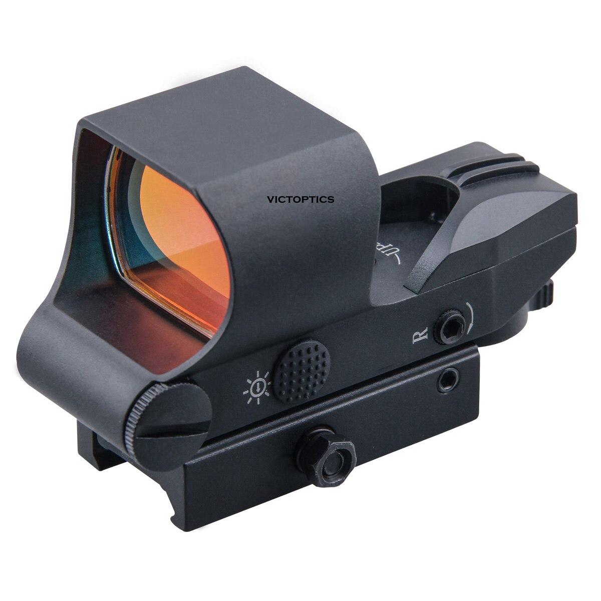 victoptics 1x28x40 reticulo sistema de bloqueio tactical red dot scope reflex sight 21mm qd picatinny montagem