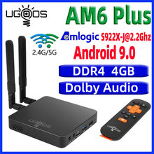UGOOS AM6 Plus TV caja Android 9,0 Dispositivo de tv inteligente AM6 pro S922X DDR4 4GB RAM 32GB Dual WiFi 1000M BT5.0 4K Media Player AM6 2G 16G(China)
