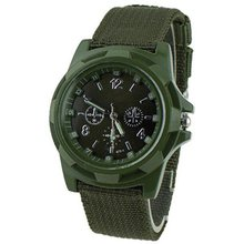 Sergeant waterproof watch woven canvas strap men's luminous watch