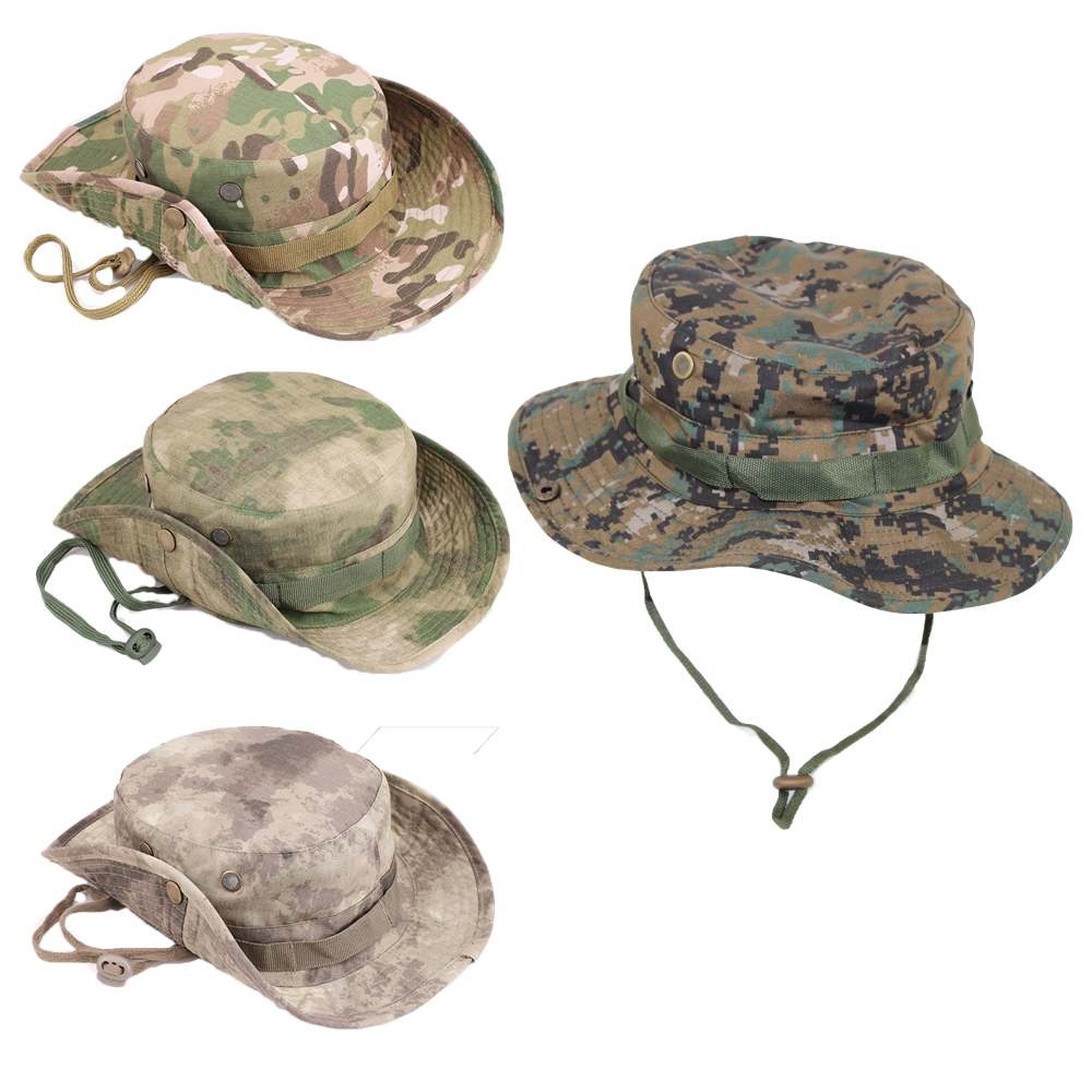 Tactical Airsoft Sniper Camouflage Boonie Hats Nepalese Cap Militares Army Mens American Military Accessories Hiking ACU FG AU