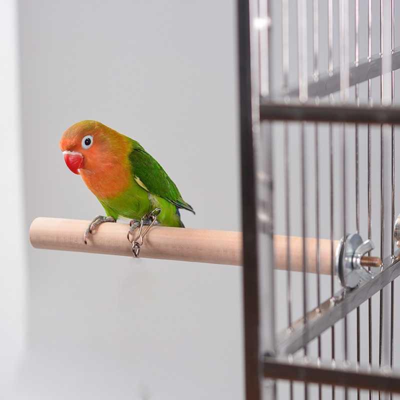 1 個オウムペット原木ハンギングスタンドラックのおもちゃ木製プラットフォームインコ支店止まり鳥アクセサリーための鳥ケージ