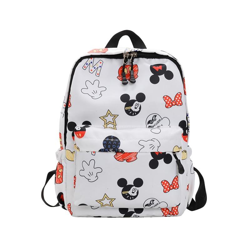 Disney Mickey Mouse Backpack Multi-function Large Capacity Backpack Waterproof Men Women Shoulder Bag Travel Bag School Bag