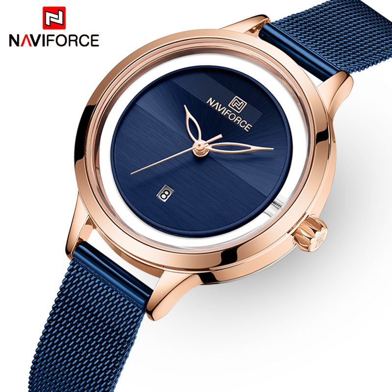 NAVIFORCE Brand Luxury Women Watches Fashion Quartz Watch Ladies Simple Waterproof Wrist Watch Gift For Girl Relogio Feminino