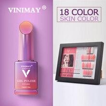 VINIMAY ผิวสีชมพูฝรั่งเศสเจลเล็บโปแลนด์ Vernis กึ่งถาวร UV Gelpolish เล็บออกแบบเล็บเจล Lacque