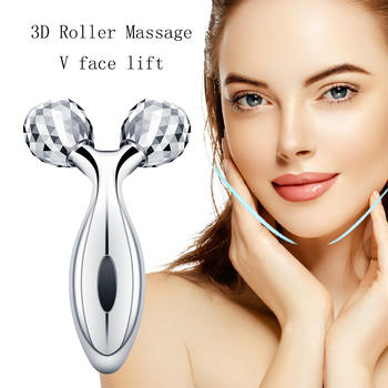 3D Massage Face Lifting Y Shape Roller 360 Rotate Massager Beauty Wrinkle Removal Tightening Skin Body Shaping Relaxation Tools multifunction 3d small face massager roller 360 rotate balls face lifting machine v face wrinkle removal roller massager cleaner