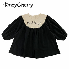 Kids Princess-Dress Spring Baby-Girls Embroidery Western-Style Children New