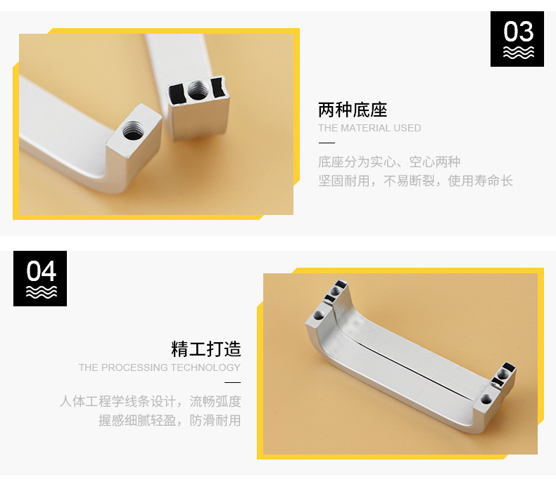 H073d960b71b54754ad410ea6796bbfb69 - 4/6/8/10/12 inches Space Aluminum Handles Kitchen Door Cabinet Straight Handle Pull Knobs Furniture Hardware