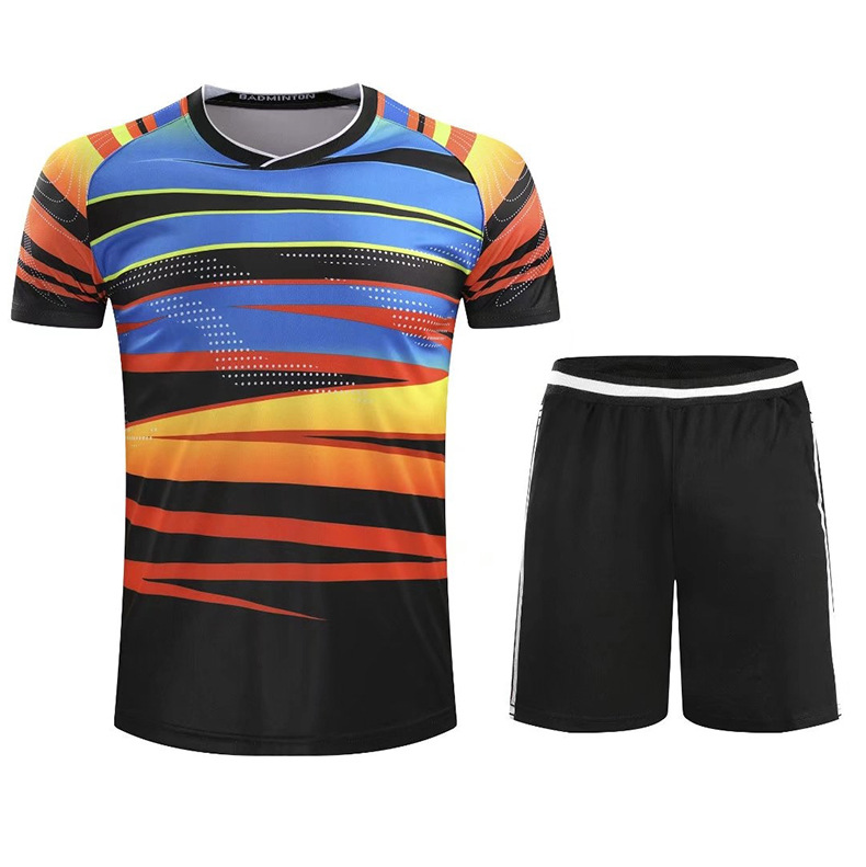 2018 New Style Short Sleeve Table Tennis Wear Set Men And Women-Sports Large Size Tennis Togs Badminton Clothing Shirt